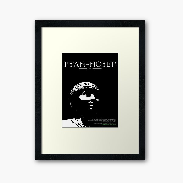 A Quote By Ptah-Hotep Framed Art Print