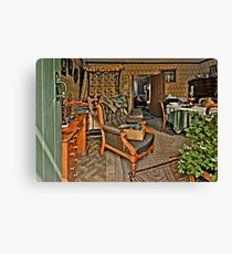 The Victorian Living Room (HDR) Canvas Print