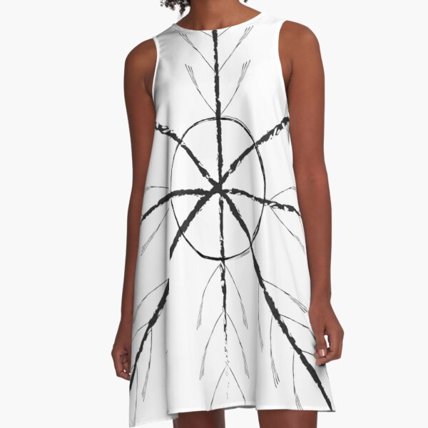 Old World Witchcraft Viking Ritual Blend: Inner Strength, Courage & Protection A-Line Dress
