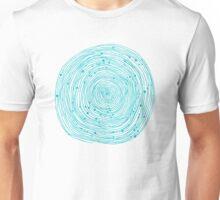 Turquoise spirals  Unisex T-Shirt