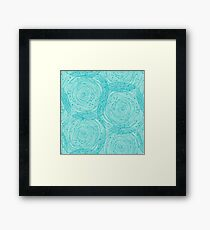 Turquoise spirals  Framed Print