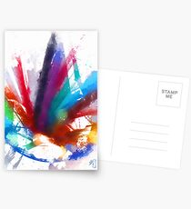 """the dancing Peacock / """"color"""" Postcards"""