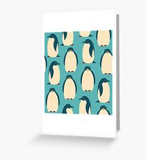 Happy penguins Greeting Card