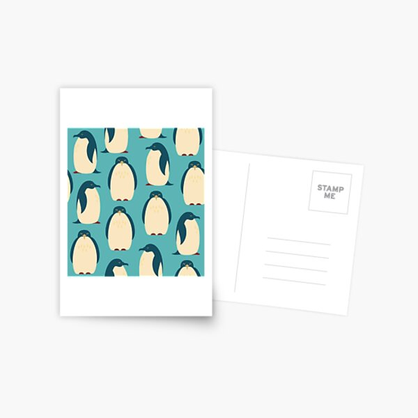 Pingouins heureux Carte postale