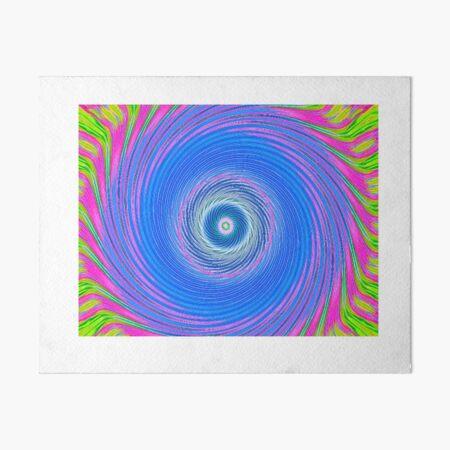 Like a Hurricane--Blue Art Board Print