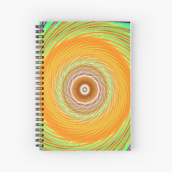 Like a Hurricane Orange Spiral Notebook