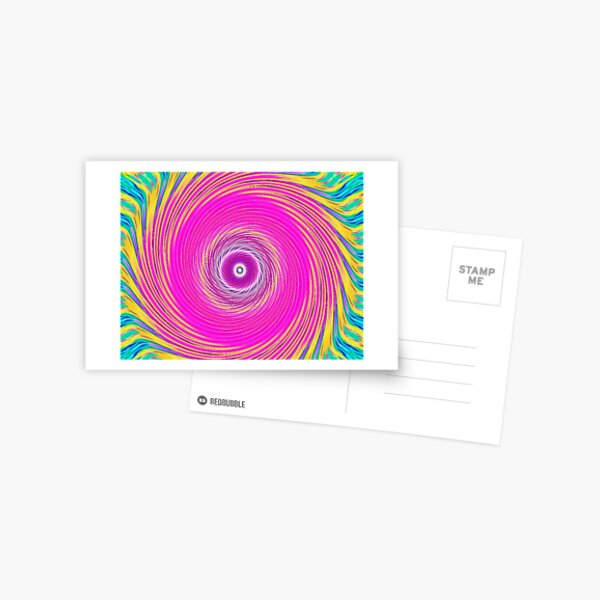 Like a Hurricane Pink Postcard