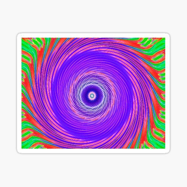 Like a Hurricane Purple Sticker
