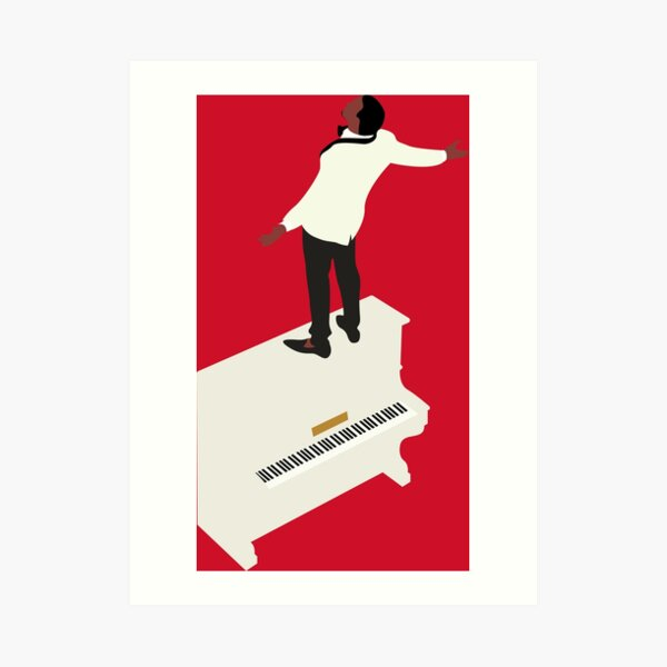 Kanye Runaway Piano Design Impression artistique