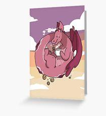 Milk & Cookies Dragon Greeting Card
