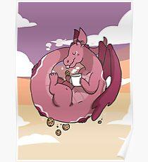 Milk & Cookies Dragon Poster
