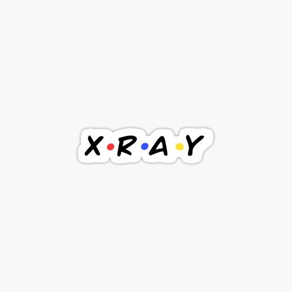 Estilo de amigos de tecnología de rayos X Pegatina