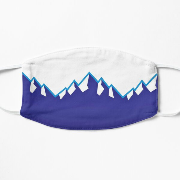 Utah Jazz Mountains - Colores del equipo Mascarilla plana