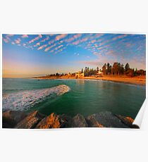 Sea Swell at Sunset Poster