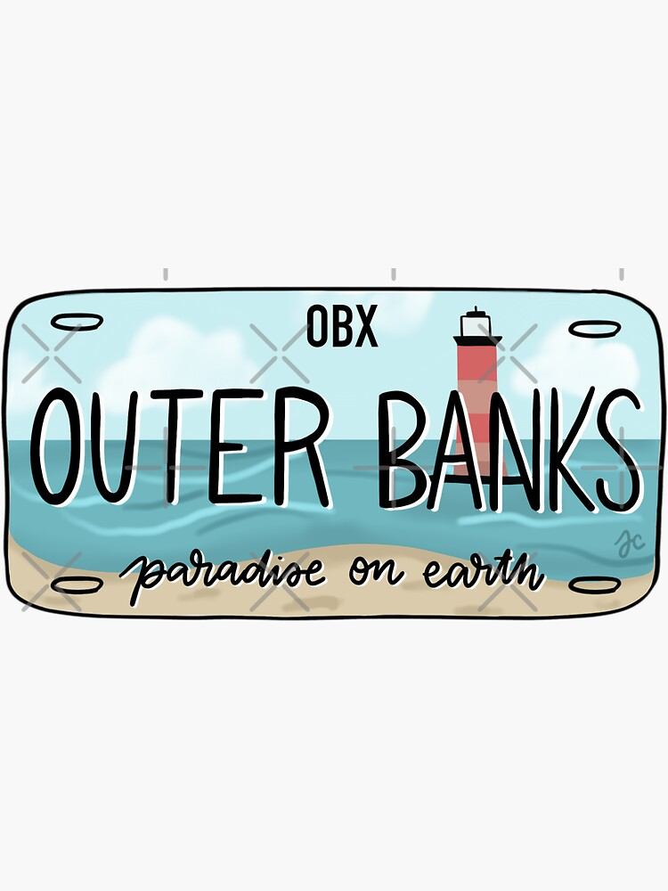 THE ORIGINAL OBX license plate bright by Jeandabean