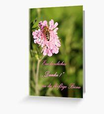 Der fleißigen Biene Greeting Card