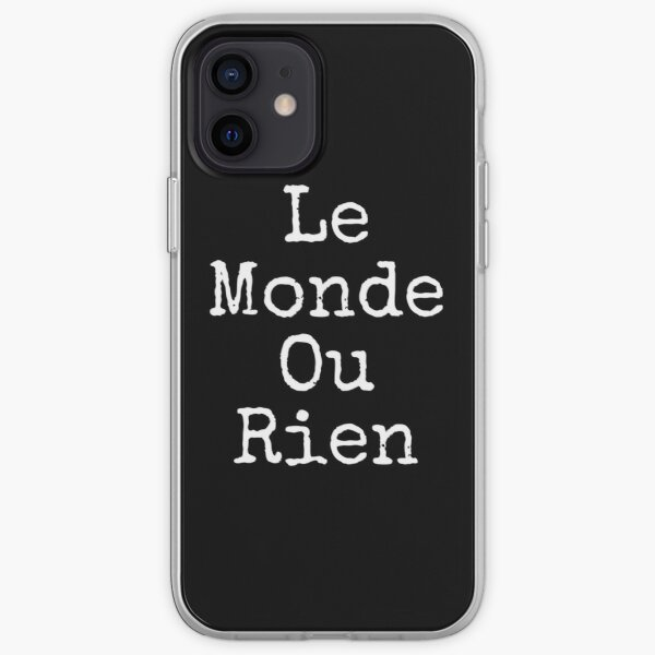 Le Monde Ou Rien Coque souple iPhone