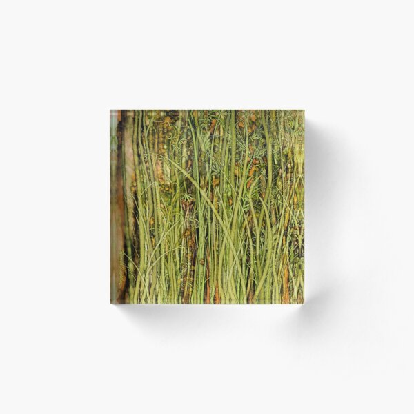 Qualia's Grass (Antique Yellow) Acrylic Block