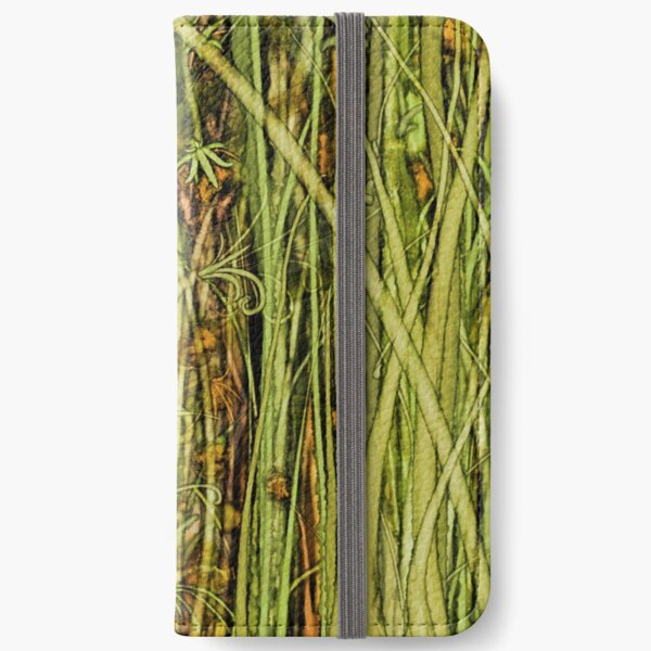 Qualia's Grass (Antique Yellow) iPhone Wallet