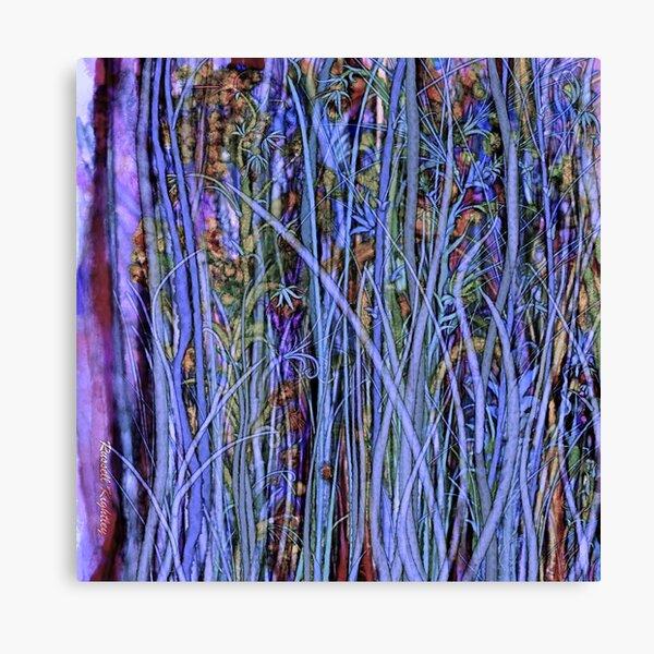 Qualia's Grass (Dreamy Blue) Canvas Print