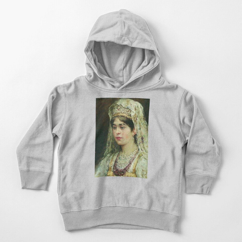 Portrait of a Girl in the Russian Costume Toddler Pullover Hoodie
