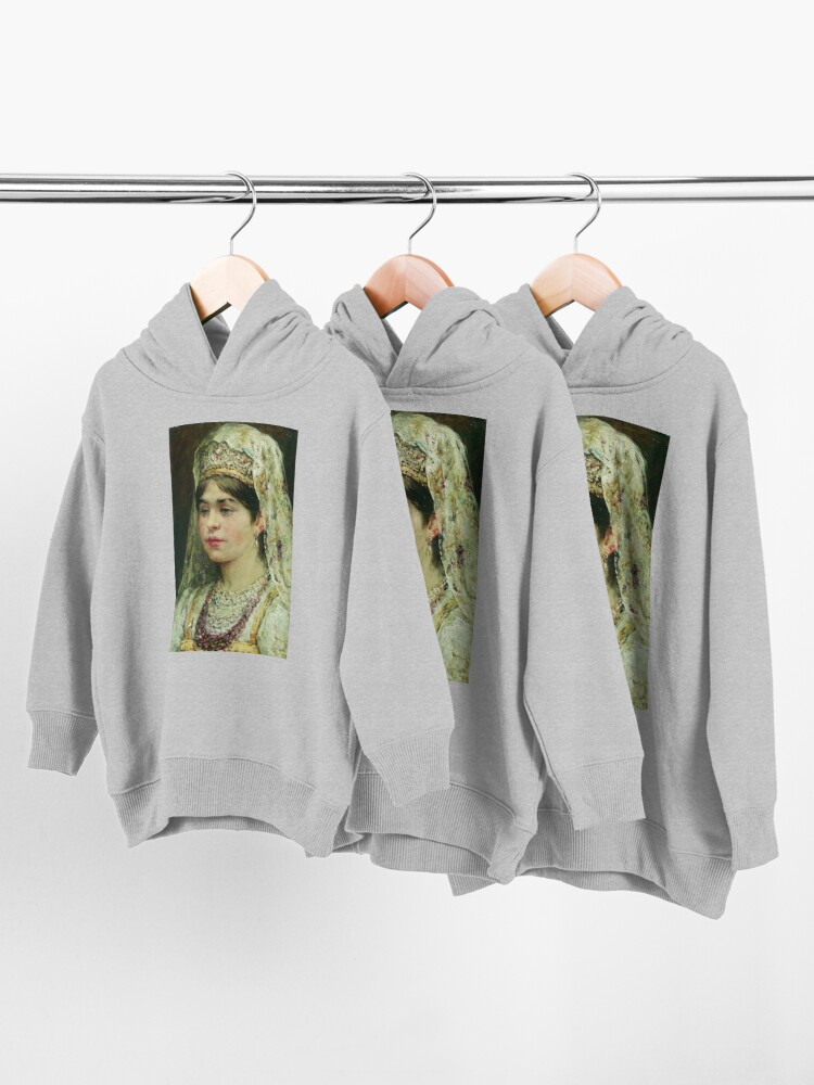 Alternate view of Portrait of a Girl in the Russian Costume Toddler Pullover Hoodie