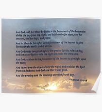 Genesis 1:14-19 Poster