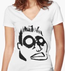 Meadow Head Women's Fitted V-Neck T-Shirt