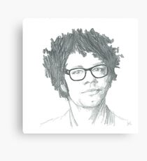 Richard Ayoade Sketch (Large) Canvas Print