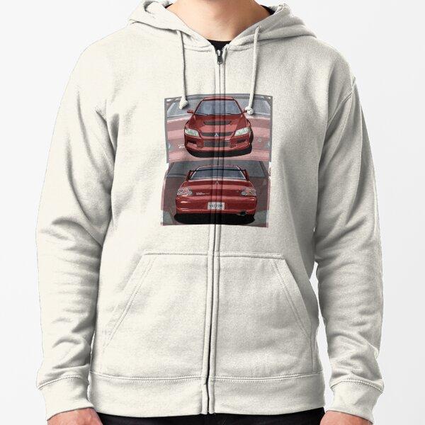 Camiseta Mockup Lancer Evolution viii Sudadera con capucha y cremallera