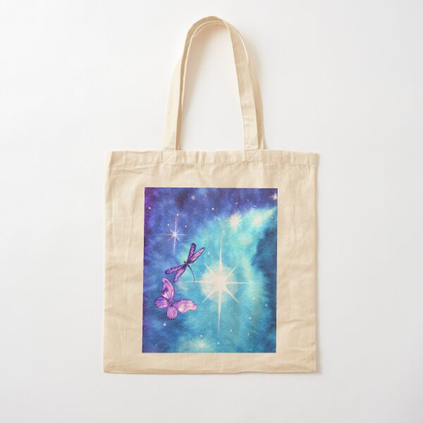 Purple Wings of Hope Cotton Tote Bag