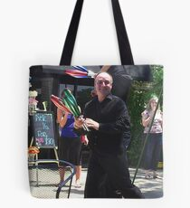 Then he saw the camera Tote Bag