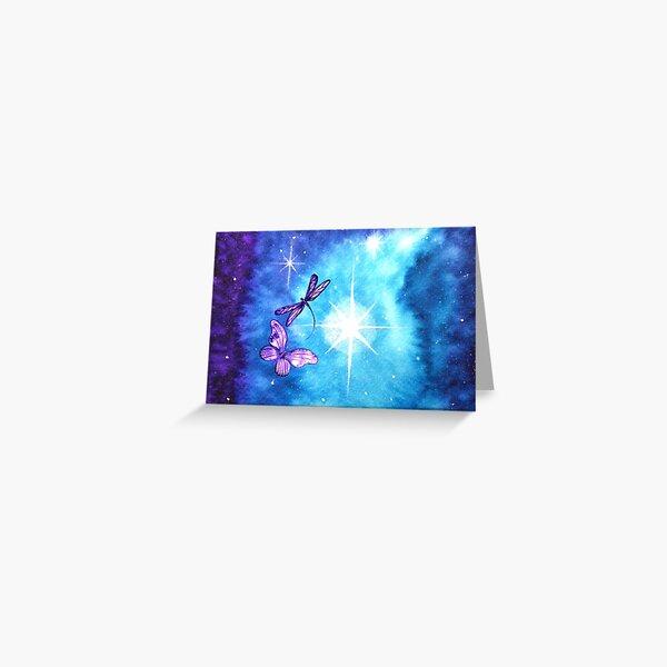Purple Wings of Hope Greeting Card