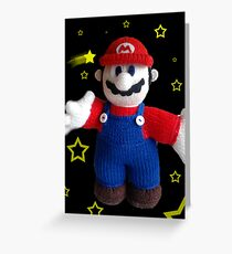 Knitted Super Mario Greeting Card