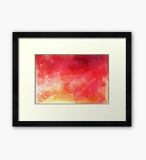 Abstract Watercolor Gradient Framed Print