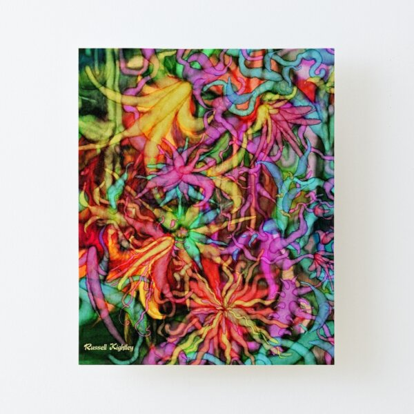 Qualia's Flowers Canvas Mounted Print
