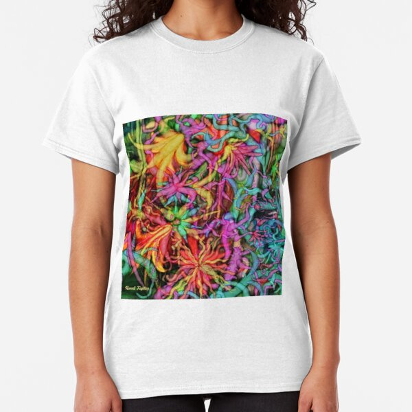 Qualia's Flowers Classic T-Shirt