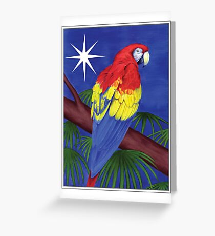 Holiday Parrot  Greeting Card