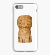 Champagne Cork on white iPhone Case/Skin