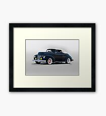 1940 Ford Convertible 'Hopped Up Fifties Style' Framed Print