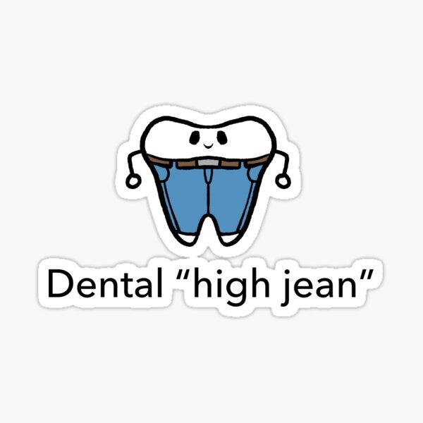 """""""high jean"""" Sticker"""