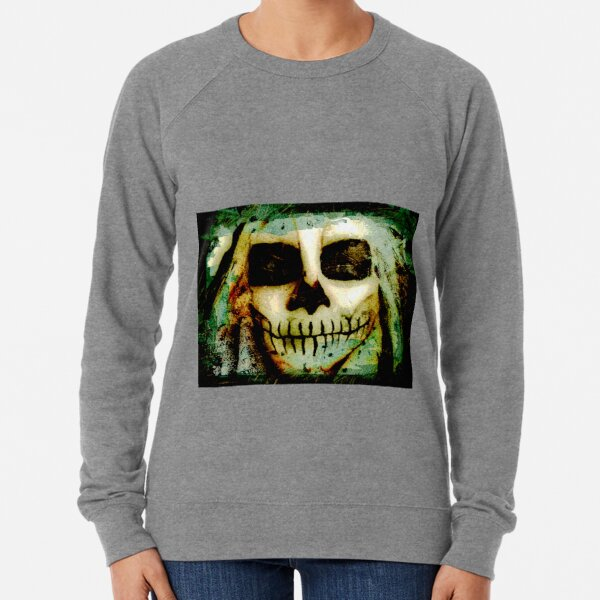 Scary Skull me  Lightweight Sweatshirt