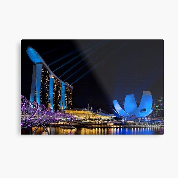 The  Light Show.    Singapore Metal Print