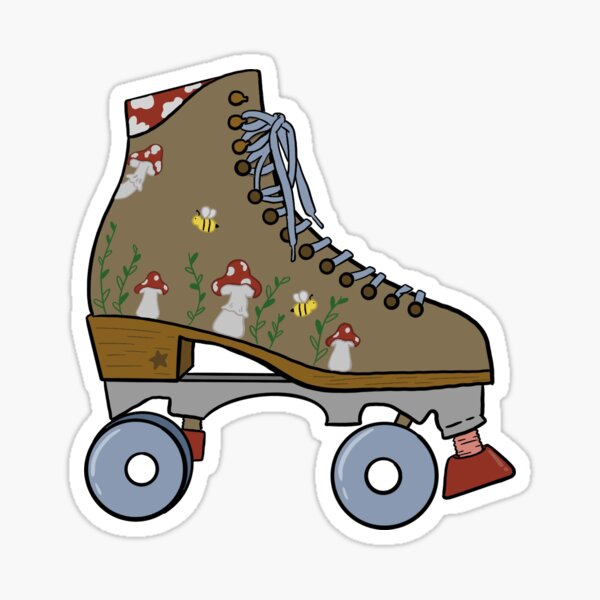 Cottagecore Rollerskate Sticker