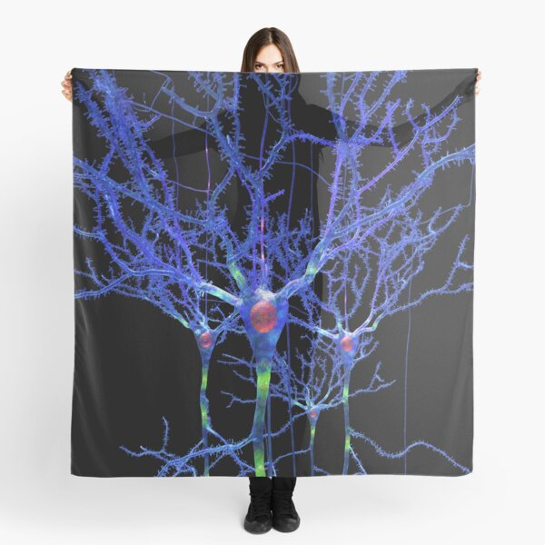 Blue Neurons or Brain Cells Scarf