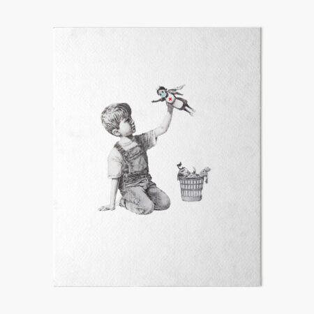 Banksy tribute to nurses Art Board Print