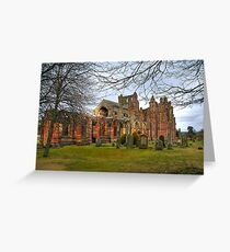 Melrose Abbey, Scotland Greeting Card