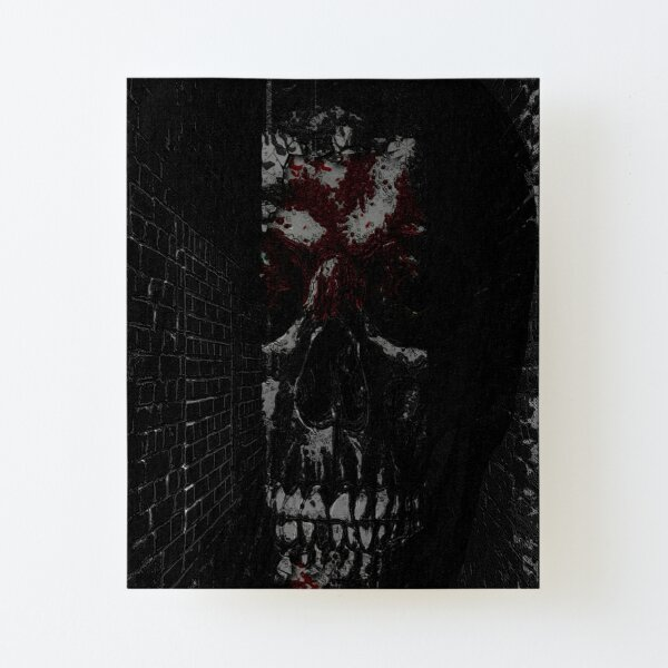 bloodied skull Canvas Mounted Print