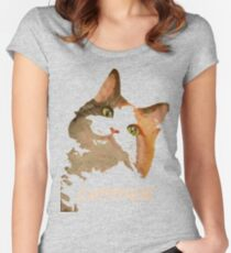 Cattitude - A Cat With Attitude Women's Fitted Scoop T-Shirt