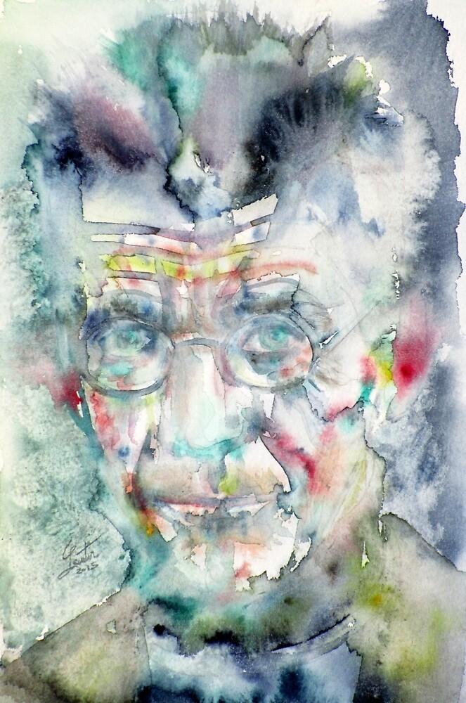 SAMUEL BECKETT - watercolor portrait.5 by lautir